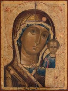 Казанская икона Божией Матери конец 17 в.