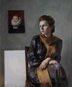"""В. Овчаренко. """"Портрет жены"""""""